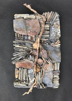 Karen Klassen (Edmonton, AB) is a visual mixed media artist creating wall art & pocket art mosaics using organic and exotic materials from around the world. Driftwood Wall Art, Driftwood Sculpture, 3d Wall Art, Glass Wall Art, Mosaic Crafts, Mosaic Projects, Texture Art Projects, Outside Wall Art, Environmental Sculpture