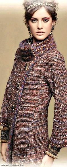 Chanel Paris Byzance - Chanel always uses such wonderful boucle fabrics.