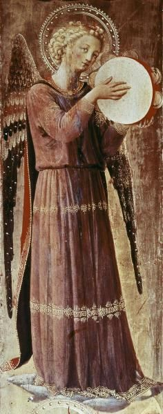 Fra Angelico - Angel With Tambourine - art prints and posters