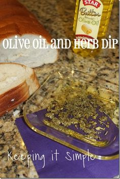 Keeping it Simple: Olive oil and Herb dip using butter  #STARoliveoil