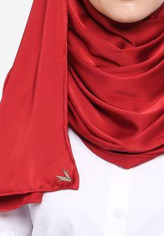 VERCATO red Glam Diva Satin Silk Shawl 89A34AA64D8B36GS_2