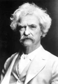 "Mark Twain was born on the day of the appearance of Halley's Comet in 1835, and died on the day of its next appearance in 1910. He himself predicted this in 1909, when he said: ""I came in with Halley's Comet in 1835. It is coming again next year, and I expect to go out with it."""