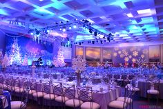 Snowflakes and winter decor ~