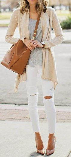 neutrals. street style. #trendygirl