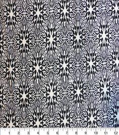 Nicole Miller Stretch Chiffon Fabric-Modern Floral Black