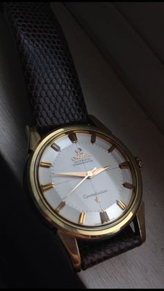 Vintage Omega Constellation Pie-Pan #Omega #Piepan #Watches #Menswear #Vintage #Classic #Gold #1950s #Constellation #Chronometer - omegaforums.net