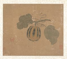 Squash, Unidentified Artist, Song dynasty (?) (960–1279), China Maker Culture, Ancient China, Old Art, Watercolor And Ink, Chinese Art, Chinoiserie, Asian Art, Art History, Still Life