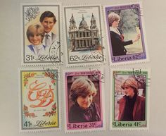 Princess Diana stamps from Liberia #stamps