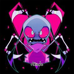 Rose Art, South Park, Gir From Invader Zim, Invader Zim Characters, Cartoon Games, Ship Art, Disney Art, Sketches, Creatures