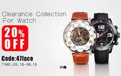 Relojes con un 20% de descuento con el cupón de Banggood