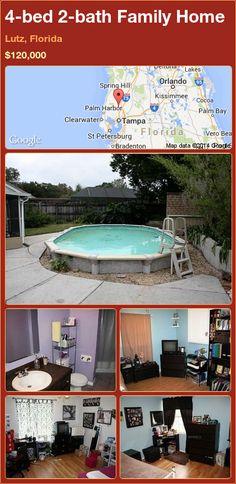 4-bed 2-bath Family Home in Lutz, Florida ►$120,000 #PropertyForSale #RealEstate #Florida http://florida-magic.com/properties/82070-family-home-for-sale-in-lutz-florida-with-4-bedroom-2-bathroom