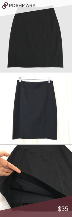 WHBM Black Pencil Skirt Shapewear lining, side zipper, hits just above the knee. White House Black Market Skirts Pencil