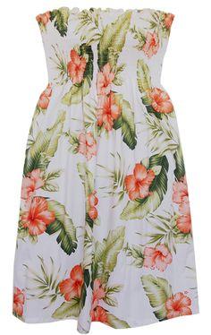 aeb421a524 Sunkiss Waimea White Smocked Hawaiian Dress Hawaiian Dresses