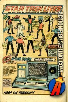 "Vintage four-color comic book ad for the Mego Star Trek 8"" action figures. #startrek #mego #actionfigures"