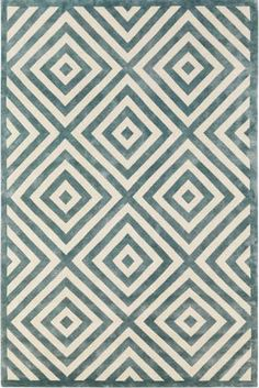 Alfombra moderna de lana con motivos geom tricos for Alfombras motivos geometricos