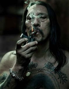Danny Trejo. Recovered drug addict, criminal, talented boxer and Hollywood A-list actor.