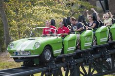 #NASCAR driver Ryan Newman visited Busch Gardens Williamsburg to greet fans and to challenge #Verbolten, the park's new automobile-themed roller coaster. #BuschGardens #themepark #rollercoaster