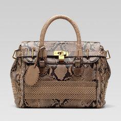 6277adf3242 Gucci Handmade Medium Top Handle Bag 263945 In Light Brown