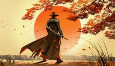 sunsets video games samurai western red steel 2 male swords cowboy hats 5350x3088 wallpaper_www.wallmay.com_5.jpg (800×461)