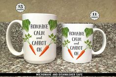 Coffee Mug Romaine Calm and Carrot On Coffee Mug  Great by FoxyMug