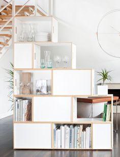 Modular stacked shelves