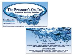16 Best Pressure Washing Business Cards Images Name