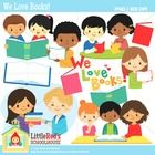 This is a cute collection of classroom-themed clipart featuring:  - 11 unique designs provided in color; 10 in black and white lineart (21 image fi...