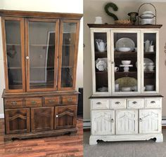Beautiful Antique China Cabinet Makeover Ideas -Most Beautiful Antique China Cabinet Makeover Ideas - + 33 What You Should Do About China Cabinet Redo Before And After Hutch Makeover 87 - China Cabinet Chalk Paint Makeover China Cabinets And Hutches, China Cabinet Redo, Antique China Cabinets, Painted China Cabinets, Hutch Redo, Repurposed China Cabinet, China Hutch Makeover, Farmhouse China Cabinet, Painted China Hutch