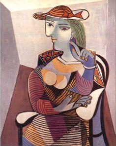 KUBISME - Pablo Picasso - 'Zittende vrouw' - 1937.