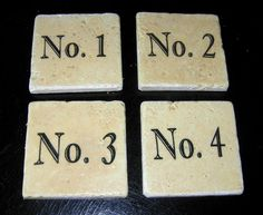 Craft Project - Vintage Number Coasters - The Graphics Fairy,  How to transfer photocopies to tile