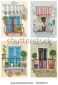 Find Set Cute Balconies Cartoon stock images in HD and millions of other royalty-free stock photos, illustrations and vectors in the Shutterstock collection. Thousands of new, high-quality pictures added every day. Watercolor Trees, Watercolor Animals, Watercolor Background, Watercolor Landscape, Abstract Watercolor, Watercolor Paintings, Simple Watercolor, Tattoo Watercolor, House Illustration