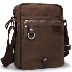 New Elegance Designed Cool Brown Men's Vintage Canvas Bag Shoulder Bag Messenger | eBay