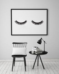 "Minimalist Poster ""Eye Lashes"", Fashion Print, Wall Decor, Minimal Art, Glamour, Fashion Wall Art, Fashion Poster, Beauty, Bedroom Decor."
