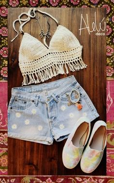 crop top al crochet