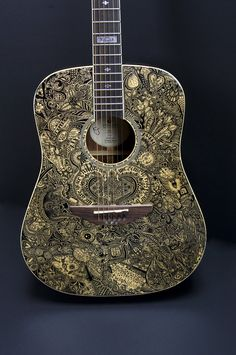 Yet Another Sharpie guitar: 'Inkorruptible II' by sprat, via deviantART http://sprat.deviantart.com/gallery/