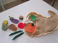 Thanksgiving Craft. Felt Cornucopia