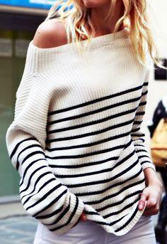 over the shoulder stripes