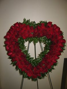 Heart wreath for funeral. #morethanflowersgd