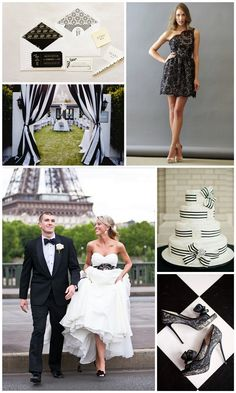 A stunning black and white inspiration board from MarryMeMetro.com http://marrymemetro.com/2013/01/16/inspiration-board-black-white-wedding/