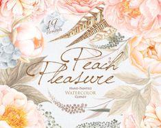 Matrimonio acquerello corona & mazzi peonie English Rose