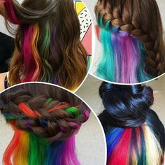 This Hidden-Rainbow Hair Is Gonna Give You All Kinds Of Hair Goals