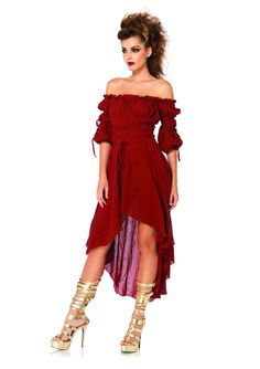 ee8008071930 Amazon.com: Leg Avenue Women's High Low Peasant Dress: Clothing. Costumes  For WomenAdult ...