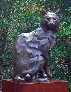 Steadfast - Bobcat Sculpture