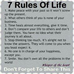 7 Rules Of Life http://www.improfitnow.com/category/earn-money-online-2/