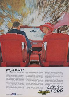 1962 Ford Galaxie 500 / XL Car Ad Couple Driving by AdVintageCom