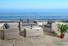 Luxury Outdoor Lounge Set with Germany Origin. 3 years quality. Buy from our online store www.levitzfurniture.com.au and save $$$