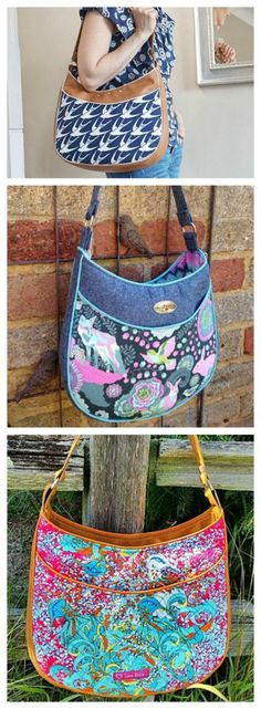 Here is the Roll With It Tote Bag sewing pattern which is easy to follow, allowing you to create your very own beautifully curved tote bag. Designed to show off your favourite fabric, the Roll With It Tote is a practical and eye-catching design suitable for everyday use.