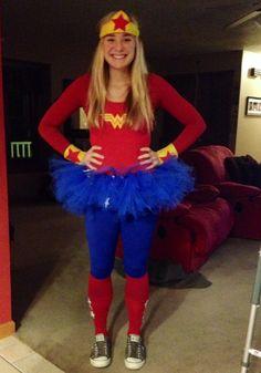 DIY wonder woman costume!!                                                                                                                                                                                 More