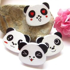 Blanche Lynn Pack of 25, 2 Hole Buttons Lovely Panda Shaped Buttons Clothing Buttons DIY Accessories, Great for a Gift, Organza Bag As a Gift ** Be sure to check out this awesome item.