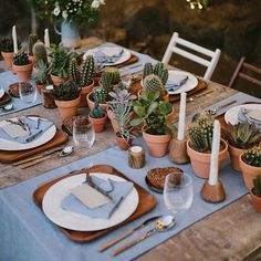 Who else has a thing for succulents & cacti?  We're all about the earthy tones of this tablescape... So much so that it made Our Favorite Wedding Details + Décor of 2017 list! See all the creative ideas #onGWS {link in bio!}    photog: @marcossanchez_ | design: @bestdayever_es    #Regram via @greenweddingshoes)